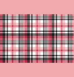 White pink color plaid seamless pattern vector