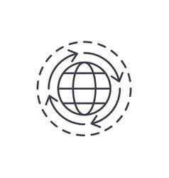 world economy line icon concept world economy vector image