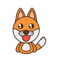 fox baby animal kawaii design vector image vector image