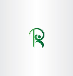letter r green man logo icon element vector image vector image