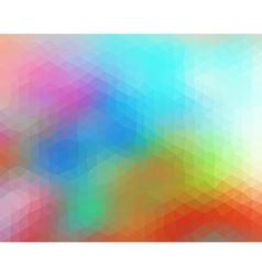 Multicolored polygonal consist of triangles vector image vector image