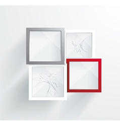 Paper Frames Abstract 3D Geometrical Design vector image