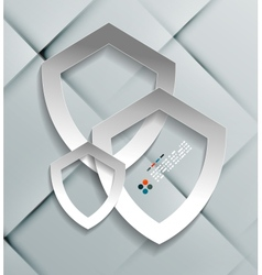 paper protection shield modern design vector image