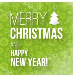 Christmas greeting card with the inscription vector image vector image