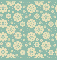 decorative seamless pattern with flowers vector image