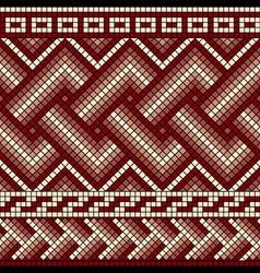 greek mosaics seam vector image