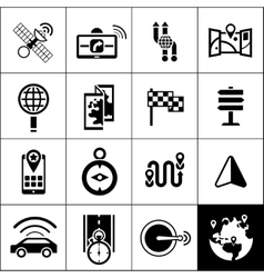 Navigation Icons Black vector image vector image