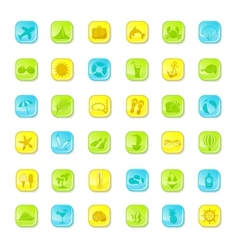Summer bright icons vector image