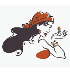 Tricky woman vector