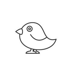 Bird thin line icon vector image