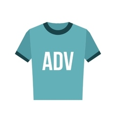 Blue shirt with ADV inscription icon vector image