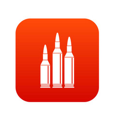 bullet ammunition icon digital red vector image