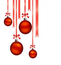 Christmas balls hang vector image vector image