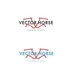 development logo horse vector image