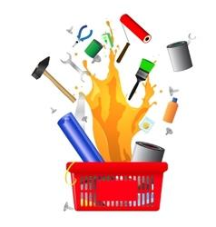 DIY shopping card vector image