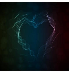 Glowing smoke heart vector image vector image