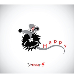 Happy Birthday postcard with your mouse vector image