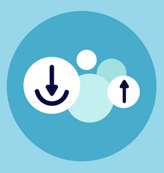 upload arrows icon internet data online access vector image