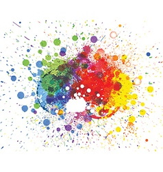 Abstract spots background with place for your text vector image