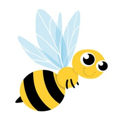 Bee Cute Cartoon vector image