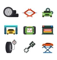 Car service repair icons set vector image