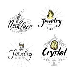 geometric polygonal crystals vector image