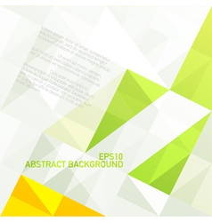 green gamut geometric abstract background vector image vector image