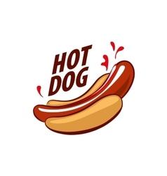 Logo hot dog vector