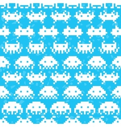 Old school game pattern vector image