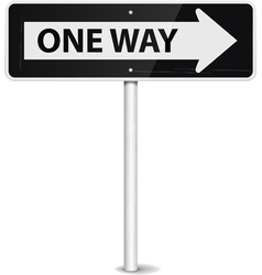 one way arrow vector image vector image