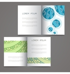 Set of design templates Magazines in vector image