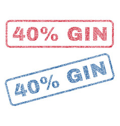 40 percent gin textile stamps vector image