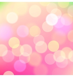 Abstract blurred pink background holiday lights vector