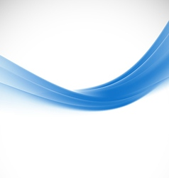 Abstract smooth blue wave background vector