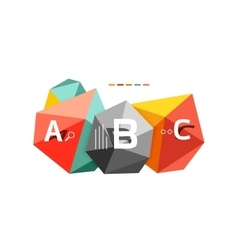 Abstract triangle low poly infographic template vector image