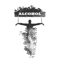Addiction metaphor vector