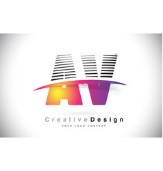 Av a v letter logo design with creative lines and vector