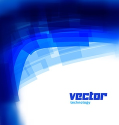 background with blue blurred lines vector image