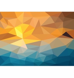 Backsunset vector image