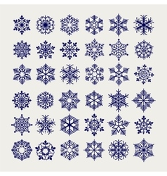 Ball pen imitation snowflakes set vector image
