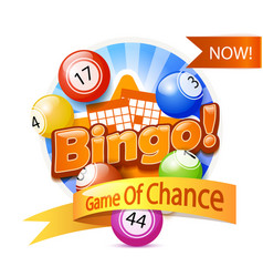 bingo game logo vector image