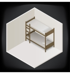 bunk bed isometric perspective view vector image