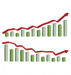 Business finance chart graph vector