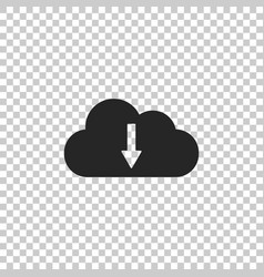 cloud download icon isolated on transparent vector image