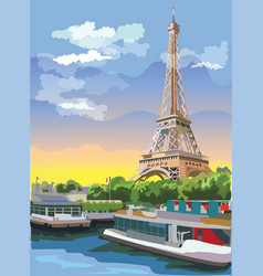 Colorful paris 3 vector