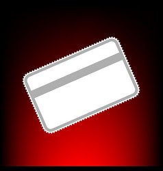 credit card symbol f download vector image