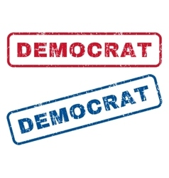 Democrat Rubber Stamps vector