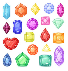 Diamond gem and precious gemstone or vector
