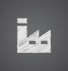 factory sketch logo doodle icon vector image