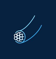 Fiber optic wire modern linear icon vector